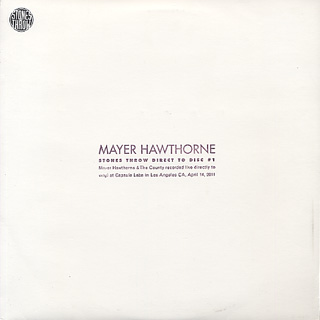 Mayer Hawthorne / Stones Throw Direct To Disc #1