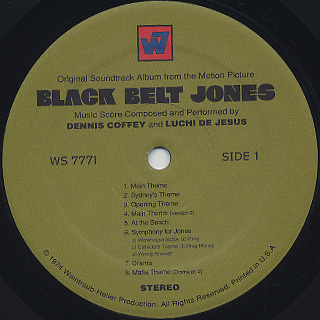 O.S.T. (Dennis Coffey And Luchi DeJesus) / Black Belt Jones label