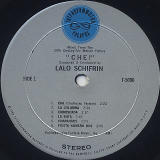 O.S.T. (Lalo Schifrin) / Che! label