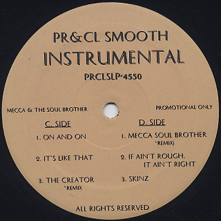 Pete Rock & CL Smooth / Mecca & The Soul Brother Instrumentals (2LP) back