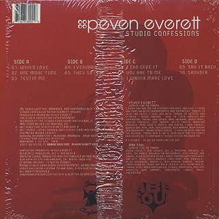 Peven Everett / Studio Confessions back