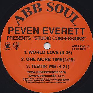 Peven Everett / Studio Confessions label