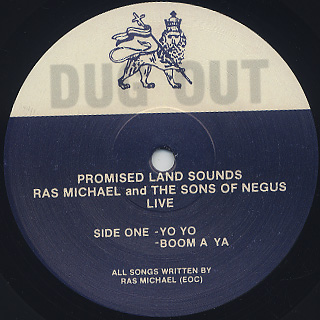 Ras Michael and The Sons Of Negus / Promised Land Sounds label