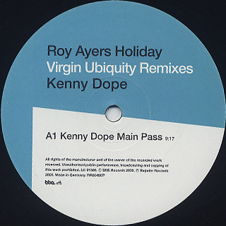 Roy Ayers / Holiday (Virgin Ubiquity Remixes) label