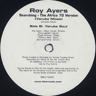 Roy Ayers / Searching - The Africa 70 Version(Yoruba Mixes) label