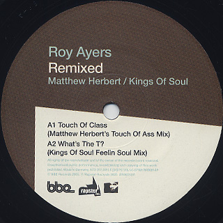 Roy Ayers / Virgin Ubiquity Remixed EP 4 label