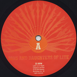 Sons And Daughters Of Lite / Let The Sun Shine In (Reissue) label