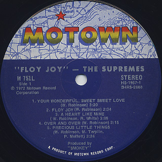 Supremes / Floy Joy label