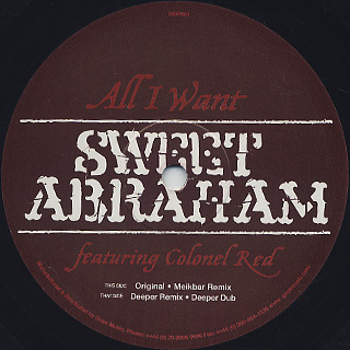 Sweet Abraham / All I Want label