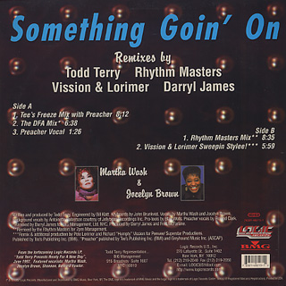 Todd Terry / Something Goin' On back