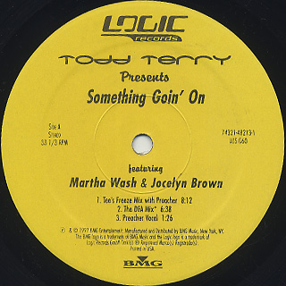 Todd Terry / Something Goin' On label