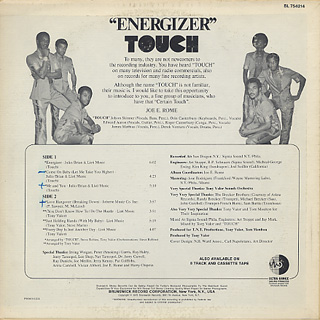 Touch / Energizer back