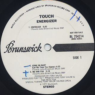 Touch / Energizer label