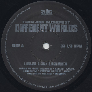 Twin And Alchemist / Different Worlds label