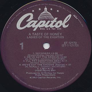A Taste Of Honey / Ladies Of The Eighties label