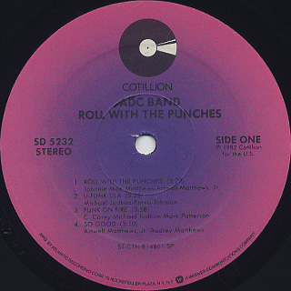 ADC Band / Roll With The Punches label