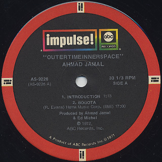 Ahmad Jamal / Outertimeinnerspace label