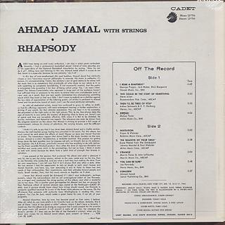 Ahmad Jamal / Rhapsody back