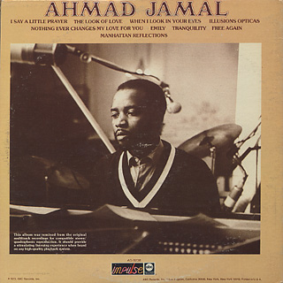 Ahmad Jamal / Tranquility (Later Jacket) back