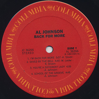 Al Johnson / Back For More label