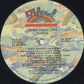 Aurra / Send Your Love label