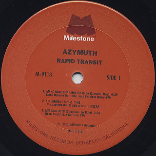 Azymuth / Rapid Transit label