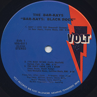 Bar-Kays / Black Rock label