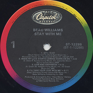 Beau Williams / Stay With Me label