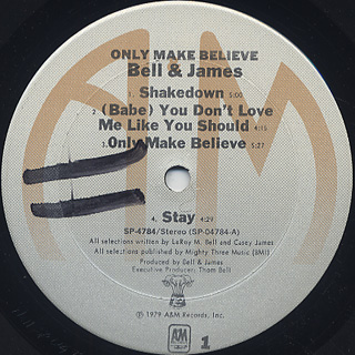 Bell And James / Only Make Believe label
