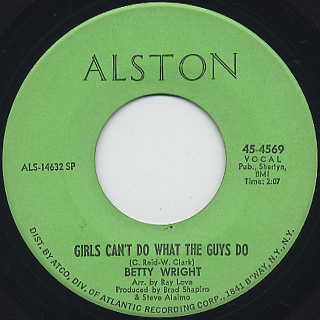 Betty Wright / Girls Can't Do What The Guys Do (7
