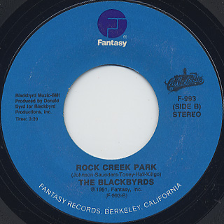 Blackbyrds / Rock Creek Park c/w Happy Music