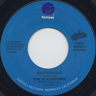 Blackbyrds / Rock Creek Park c/w Happy Music back