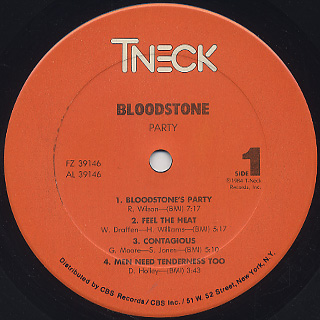 Bloodstone / Party label