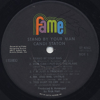 Candi Staton / Stand By Your Man label