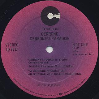 Cerrone / Cerrone's Paradise label