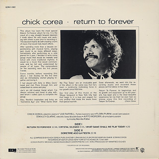 Chick Corea / Return To Forever back