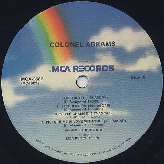 Colonel Abrams / S.T. label