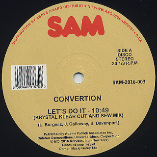 Convertion / Let's Do It (Krystal Klear Cut And Sew Mix)