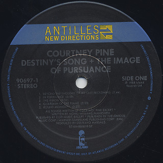 Courtney Pine / Destiny's Song + The Image Of Pursuance label