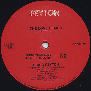 Craig Peyton / The Love Demos back
