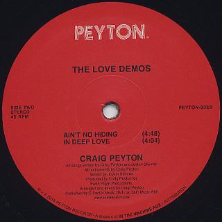 Craig Peyton / The Love Demos label