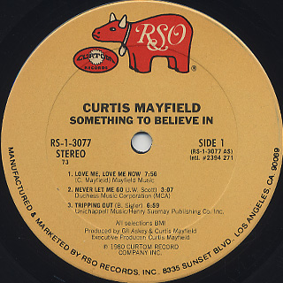 Curtis Mayfield / Something To Believe In label