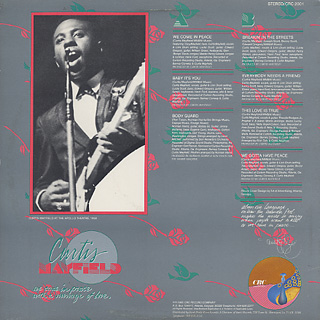Curtis Mayfield / We Come In Peace With A Message Of Love back