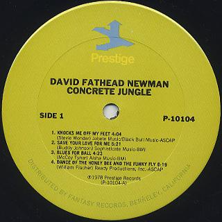 David Fathead Newman / Concrete Jungle label