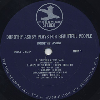 Dorothy Ashby / Dorothy Ashby Plays For Beautiful People label