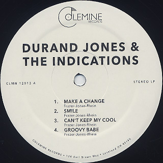 Durand Jones & The Indications / S.T. label