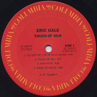 Eric Gale / Touch Of Silk label