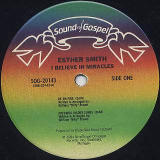 Esther Smith / I Believe In Miracles label