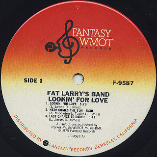 Fat Larry's Band / Lookin' For Love label