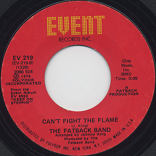 Fatback Band / Wicki-Wacky c/w Can't Fight The Flame back